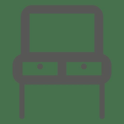Mesa de lectura de doble asiento Transparent PNG