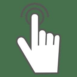 Icono de doble toque gesto