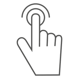 Icono de gesto de doble toque