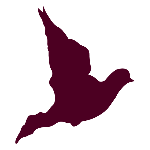 Dove flying sequence silhouette Transparent PNG
