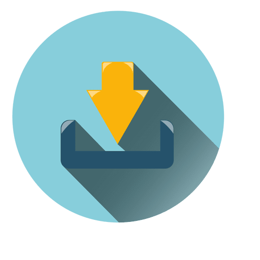 Download circle icon Transparent PNG