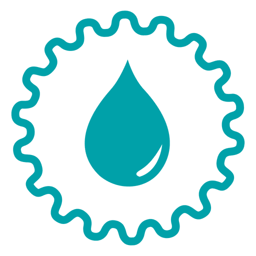 Droplet wheel icon Transparent PNG