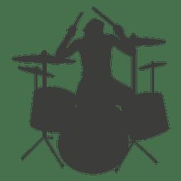 Silhueta do baterista