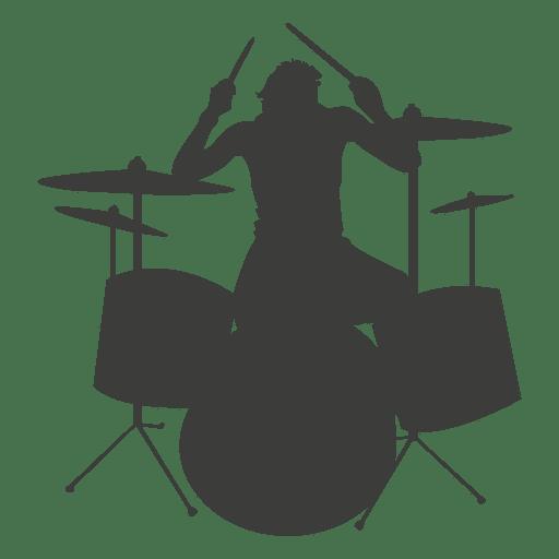 Silueta del baterista Transparent PNG