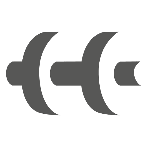 Dumbbell shade side icon