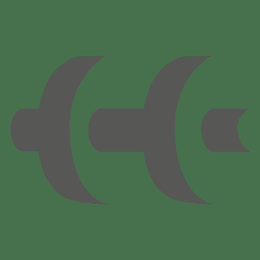 Icono de lado de sombra con mancuernas