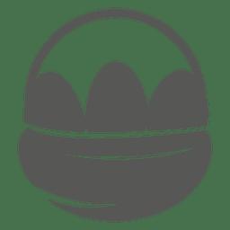 Easter eggs basket icon