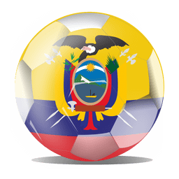 Ecuador flag ball