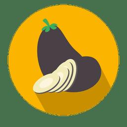 Eggplant flat circle icon