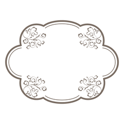 Elliptical frame floral decoration