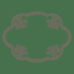marco elíptico decoración floral