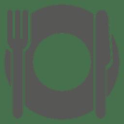 Icono de plato de cena vacío