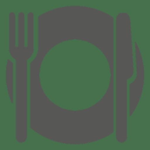 Ícone vazio prato de jantar Transparent PNG