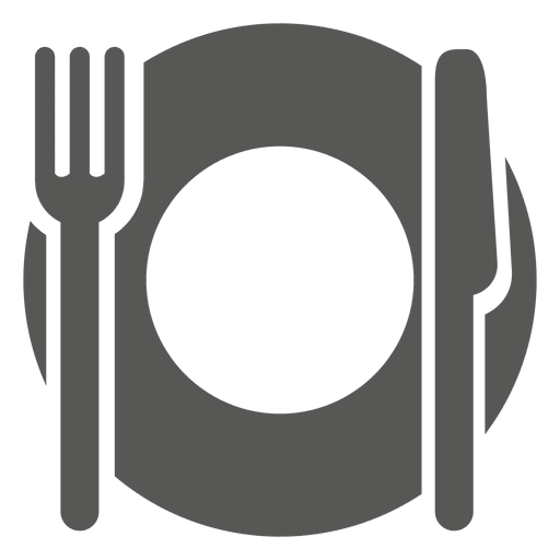 Empty dinner plate icon Transparent PNG