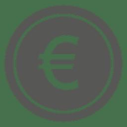 Flat Euro coin icon