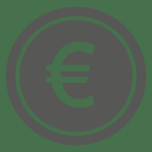 Icono de moneda plana euro Transparent PNG