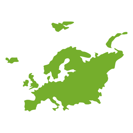 Mapa verde continental europeo Transparent PNG