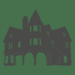 Europäische haus silhouette 1