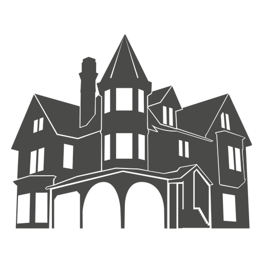 european house silhouette 1 transparent png svg vector