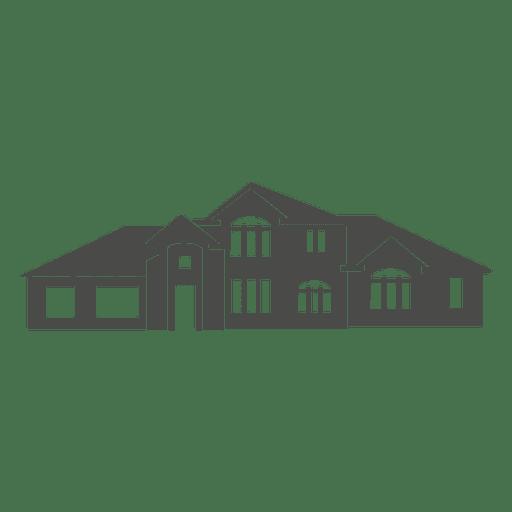 european house silhouette 2 transparent png svg vector