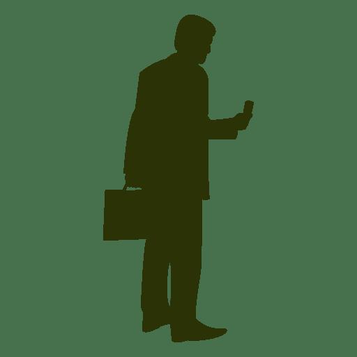 Executiva, segurando, pasta, silueta Transparent PNG