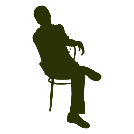 Executive sitting on chair Transparent PNG