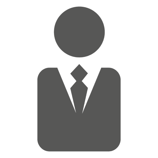 Executive symbol silhouette Transparent PNG
