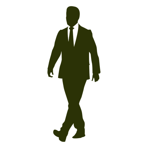 Executive walking silhouette 2 Transparent PNG