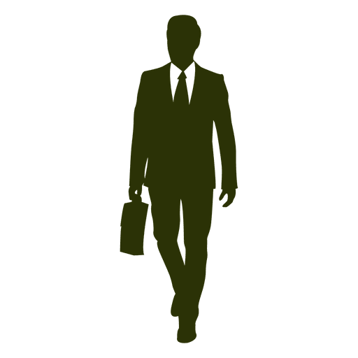 Executive walking silhouette 3 Transparent PNG