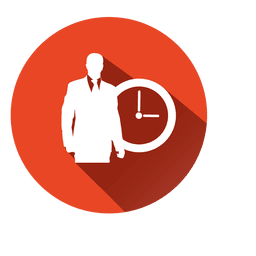 Executive with clock icon
