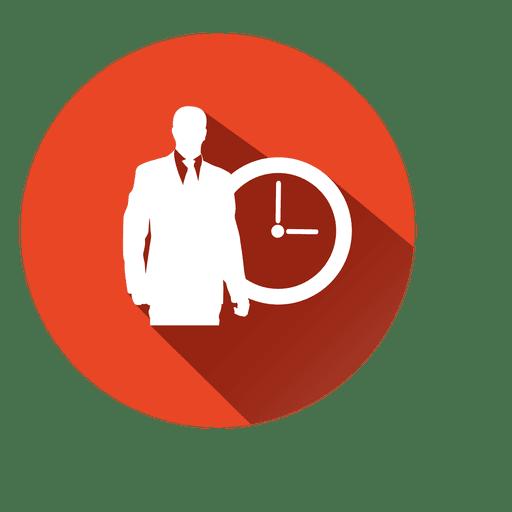 Executive with clock icon