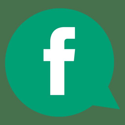 Facebook bubble icon Transparent PNG