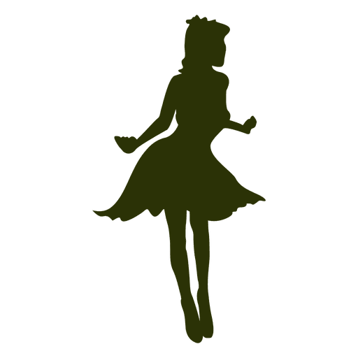 Fashion girl posing silhouette Transparent PNG
