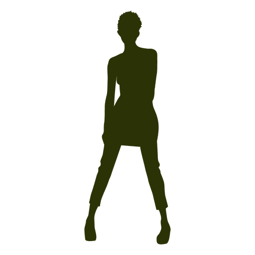 Fashion girl silhouette 1 Transparent PNG