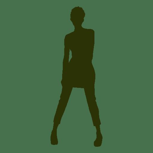 Fashion girl silhouette 1