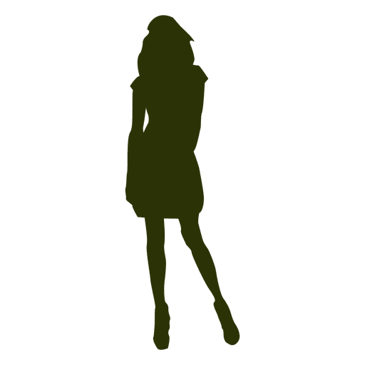 Fashion girl silhouette 2 Transparent PNG