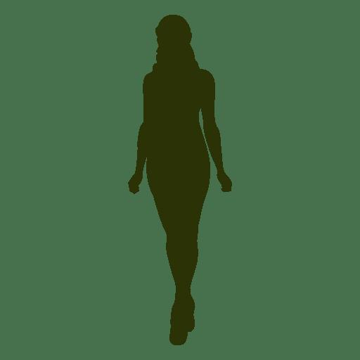 Fashion girl walking silhouette 3