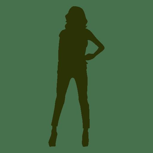 Fashion woman silhouette 1