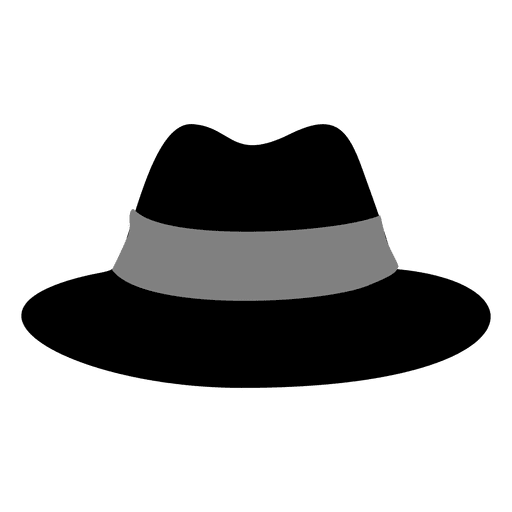 black cartoon hat