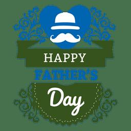 etiqueta del Día del padre