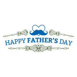 Father's day ornate badge
