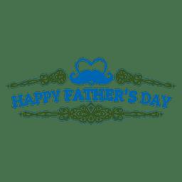Insignia adornada del día del padre