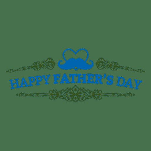 Insignia adornada del día del padre Transparent PNG