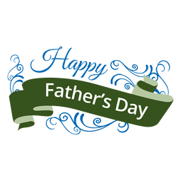 Father's day ribbon badge