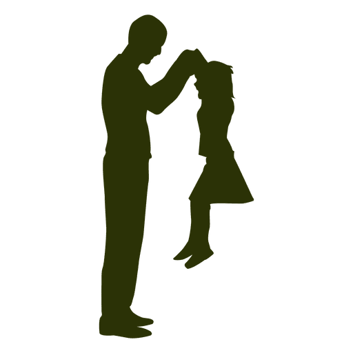 father picking daughter silhouette png