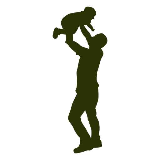 father picking son silhouette png