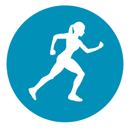Female athlete circle icon
