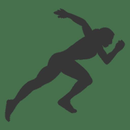 Silueta de atleta femenina