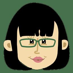 Female cartoon head character 2