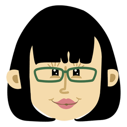 Personagem de cabeça de desenho animado feminino 2